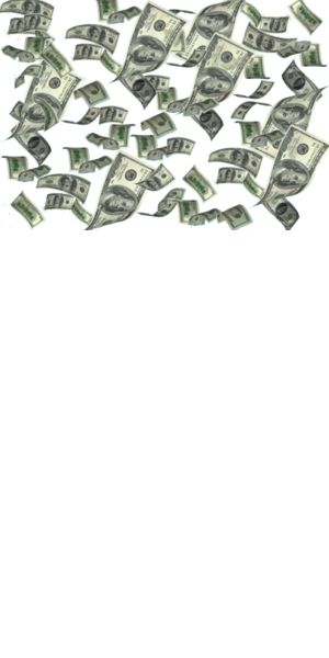 swipe down to see money rain down on your timeline