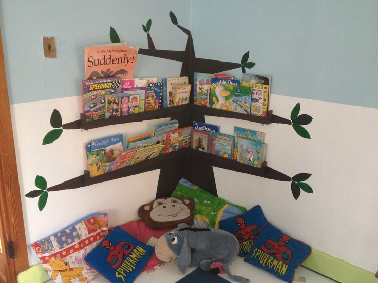 Reading corner in play school