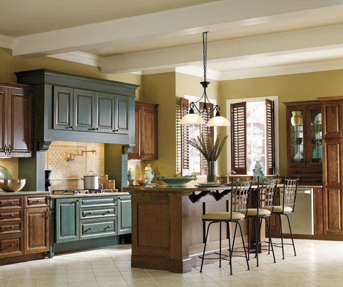 Cabinets, Decora Cabinetry, Kitchens Cabinets, Colors Pop In A Dark