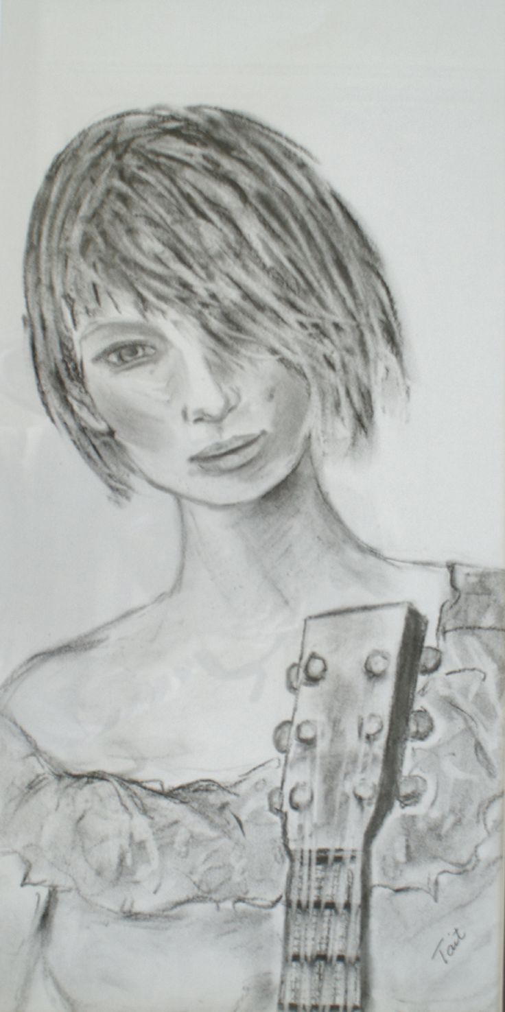 Charcoal drawing! Rock Chick