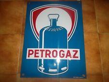 très belle et rare plaque émaillée PETROGAZ émail Art France Luynes L.I