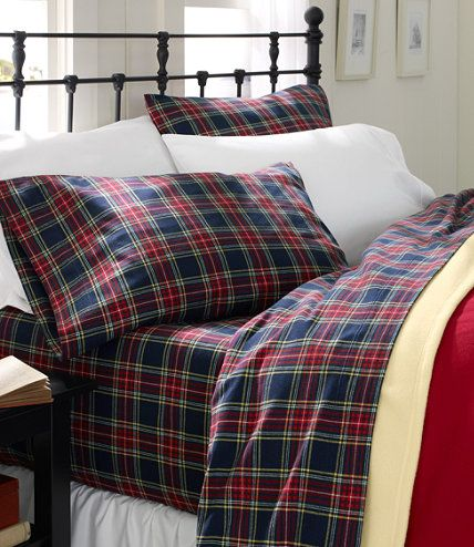 Heritage Chamois Flannel Sheet Set Plaid Sheet Sets