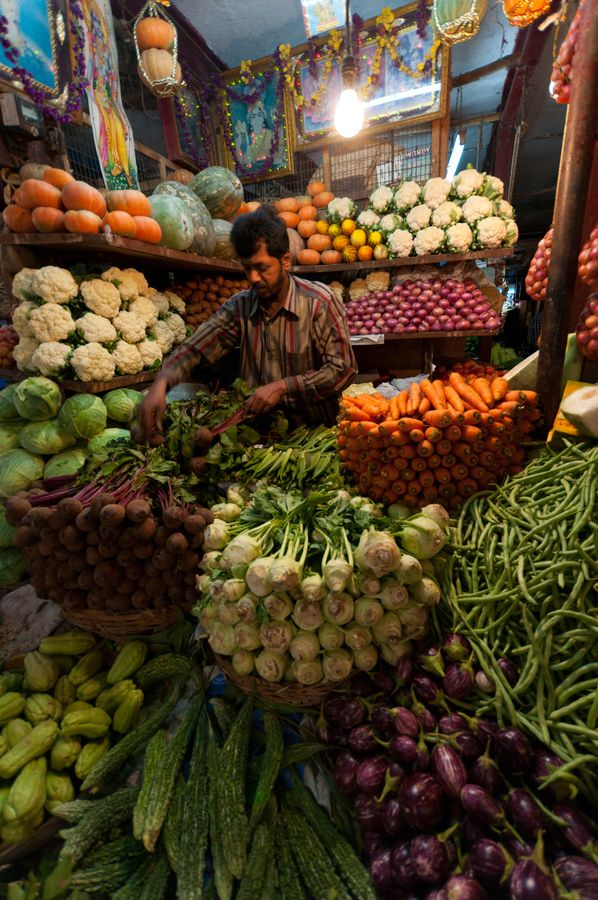 The Vegetable vendor by Suresh Menon (India)