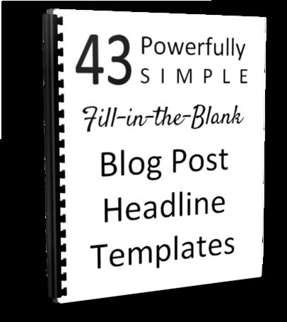 """Inside this totally free guide, you'll find the basics of why headlines are critical to getting your content shared and  read, and what the secret triggers are that grab the attention of your ideal readers.  And, of course, the 43 super simple but very powerful blog post headline templates.  If you can play """"mad libs"""" successfully, you can use these to seriously improve your headlines.  ;)  http://michelleshaeffer.com/43headlines/"""