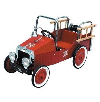 Great Gizmos Fire Engine Classic Pedal Car: Amazon.co.uk: Toys & Games