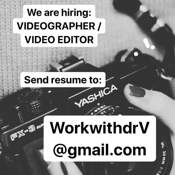 Looking to join our Social Media team? Send your resumes and