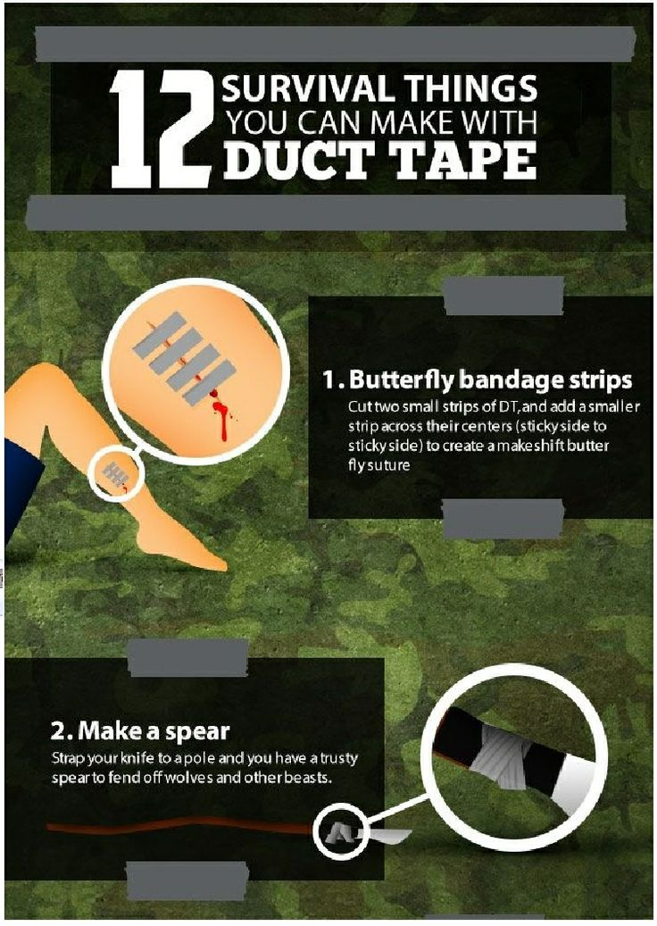 12 Duck Tape Survival uses ... page one