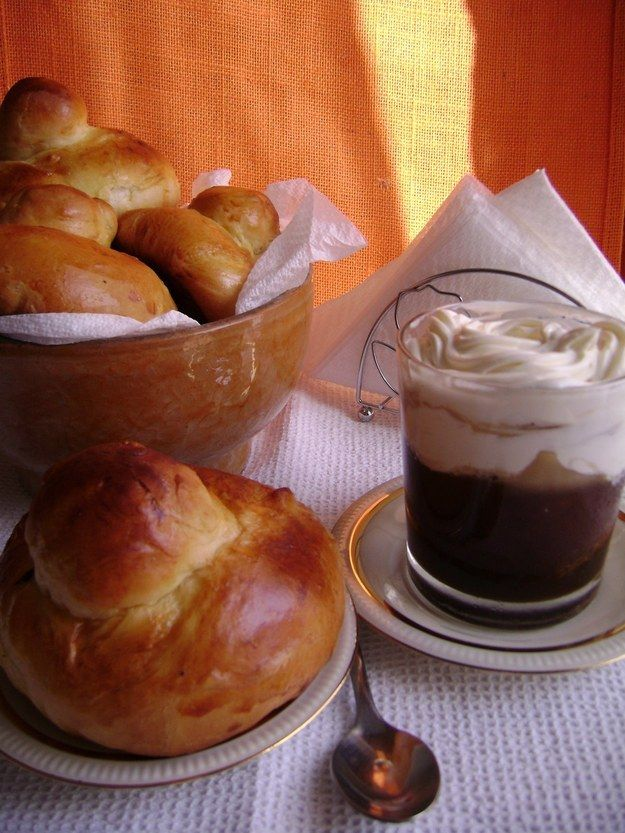 Sicilian Coffee Granita with Whipped Cream and Brioche