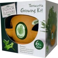 £3.99  - G Plants Indoor Flavours Terracotta Growing Kit  Contains:  - 6 Separate sachets of seed   - Expanding Compost Brick  - Terracota pot and saucer