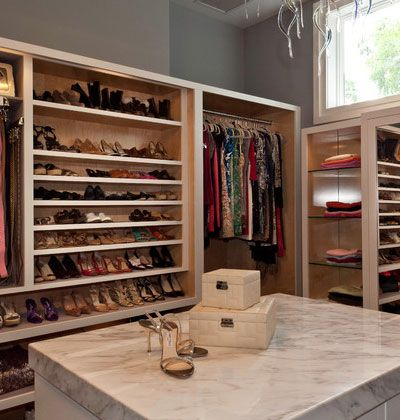 Stunning Closet Shoe Storage Ideas : Stunning Contemporary Closet Shoe  Storage Ideas With White Closet Island With White Marble Countertop A.