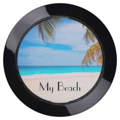 My Beach, Tropical Beach View USB Charging Station