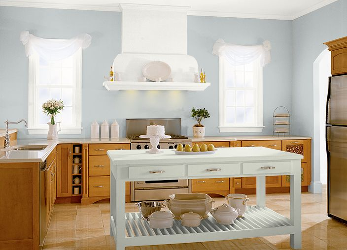 Kitchen/dining room color. I used these colors: ZERO GRAVITY(N450-2),POLAR BEAR(75),MOSS MIST(S380-1),