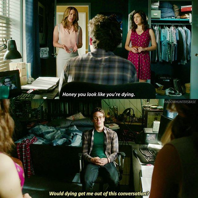 """#Shadowhunters 1x07 """"Major Arcana"""" Would dying get me out of this conversation? ~Simon"""