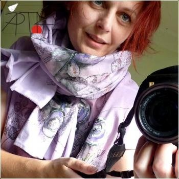 hand painted scarf by Apták