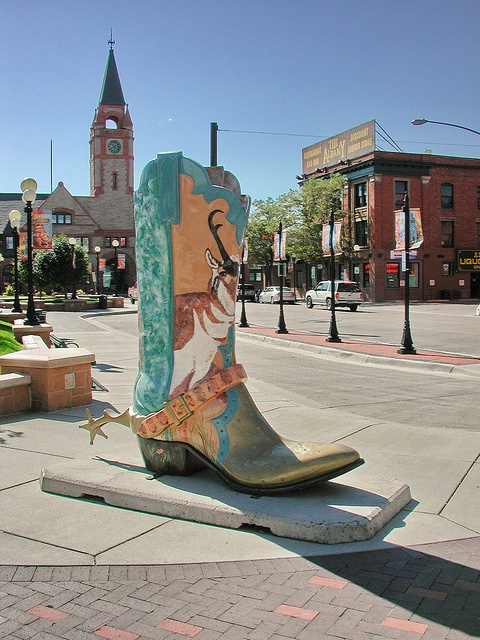 My family took a photo by this boot! This is a great place. Such a western feeling. Although after watching 8 seconds, all I can think of is Lane Frost when I think of Cheyenne.