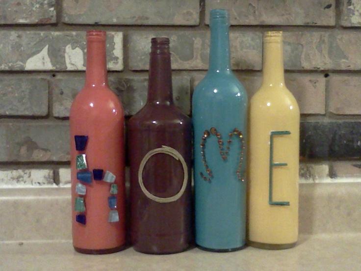 Painted wine bottles by krank1016 on etsy cute for Cute wine bottles