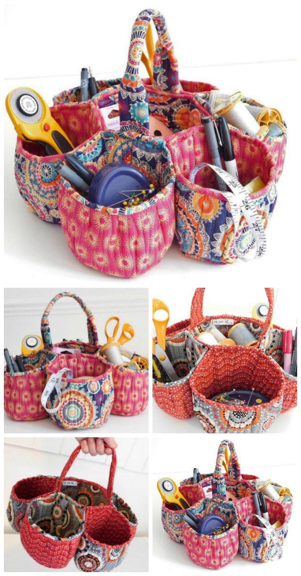 Gorgeous honeycomb storage basket sewing pattern. Not for beginners, but well worth the effort to sew this great craft basket.