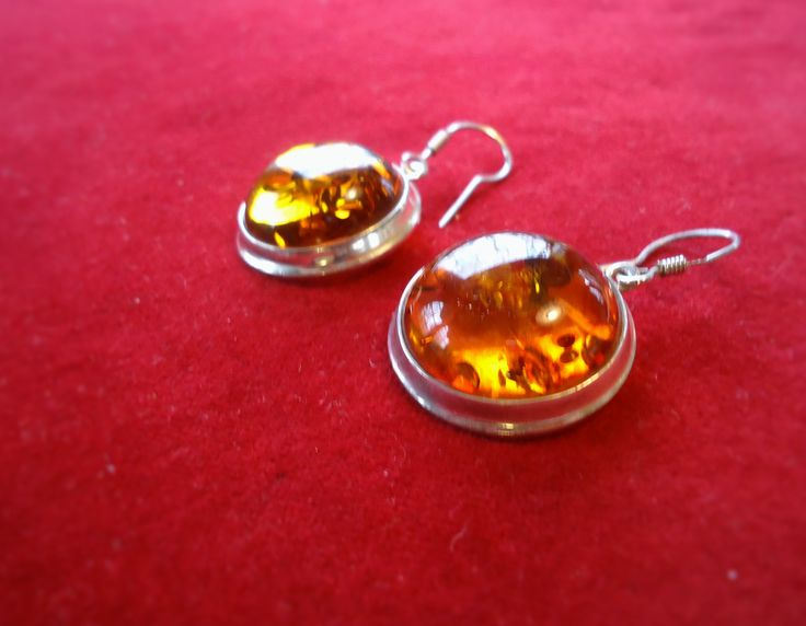Baltic Amber & Sterling Silver Earings