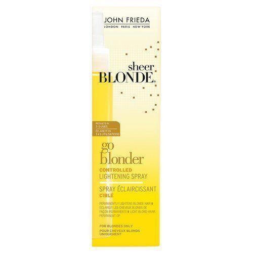 John Frieda Sheer Blonde Spray Go Blonder Eclaircissant Ciblé pour Cheveux Blonds 100 ml: Eclaircit et illumine graduellement les cheveux…