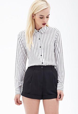 Sheer Striped Blouse   FOREVER21 - 2000060551