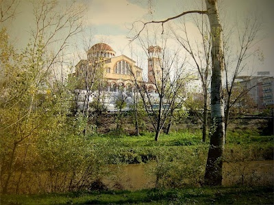 Church of St. Achilles, view from Pineios river