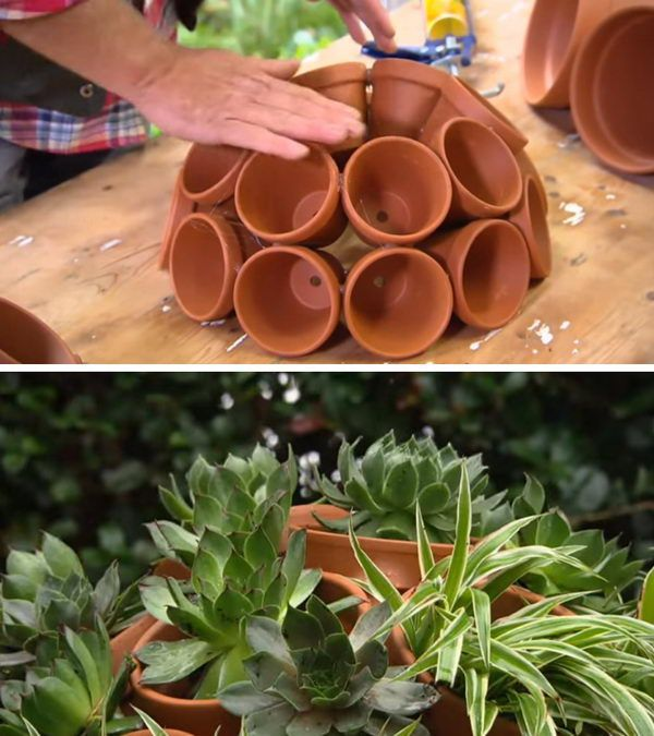 DIY Flower Clay Pot Sukkulente Kugel.