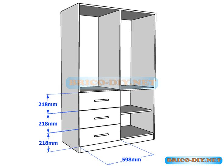 M s de 1000 ideas sobre closet de melamina en pinterest for Plano placard melamina