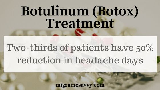 The latest Botox statistics are showing a fifty percent reduction in migraine headache days. Have you found help with Botox? Click here to read about the what, where and how of Botox injections for migraine attacks. www.MigraineSavvy.com