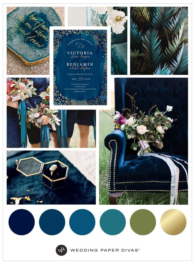 Velvet chairs, ribbons, and sapphire invitations are fit for a queen, or rather, a bride! Get awe-inspiring ideas for your fall affair.