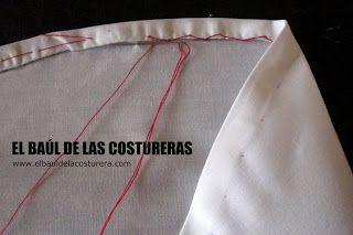 Cómo coser un ruedo curvo, con acabado profesional   EL BAÚL DE LAS COSTURERAS