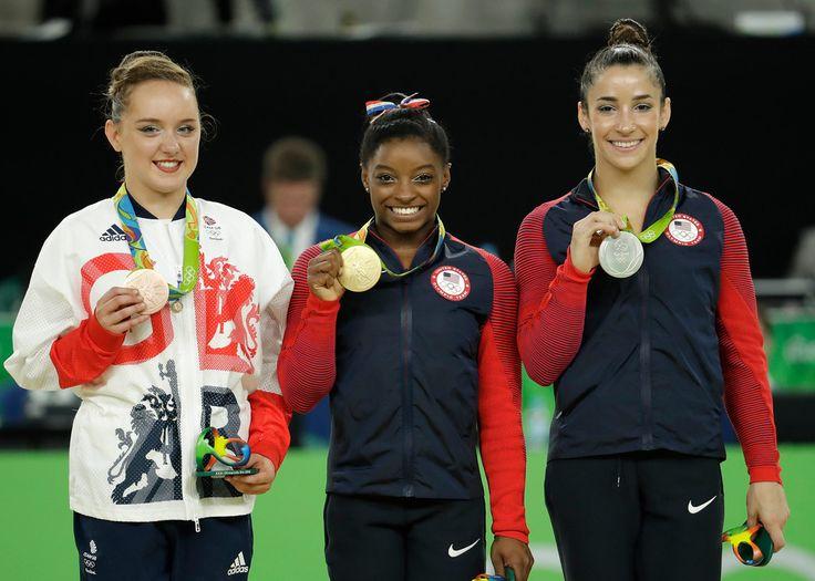 Floor Exercise: Gold - USA Simone Biles Silver - USA Aly Raisman Bronze - Great Britain Amy Tinkler #AcademyWest #WestJordan #UT #Gymnastics