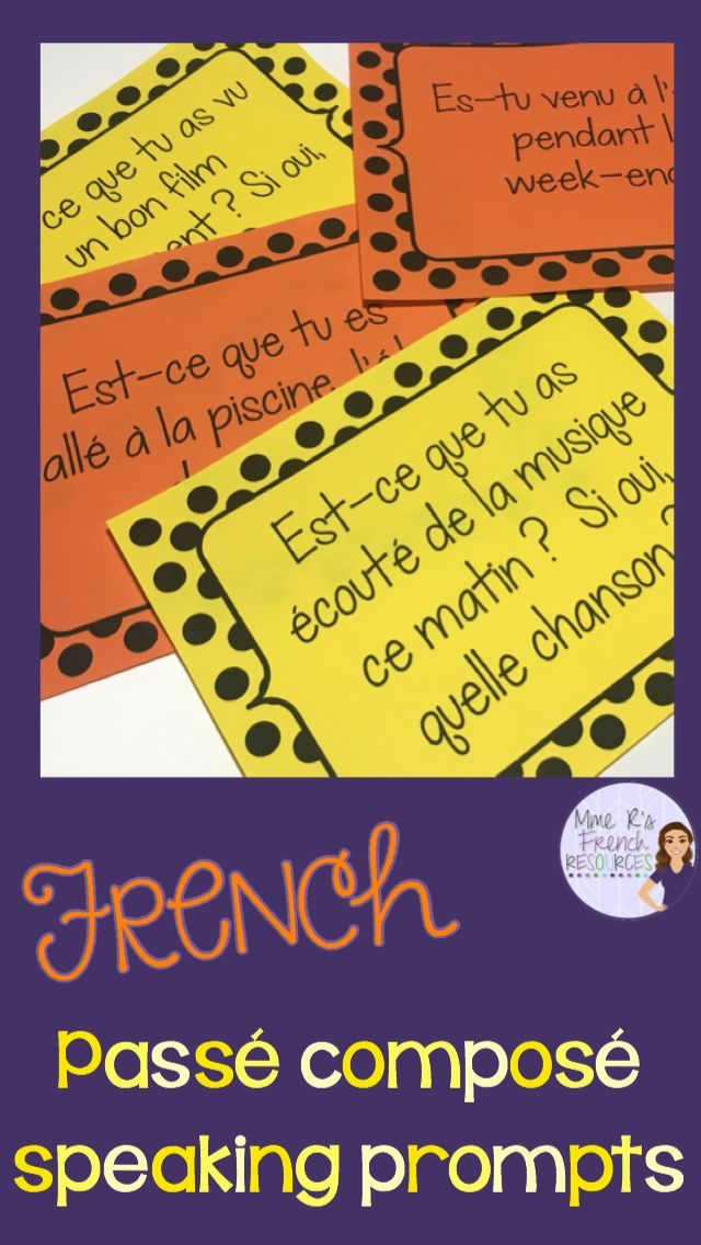 Want to get your French students speaking in the passé composé? This NO PREP activity using avoir and être verbs is always a favorite in my class. It can be used after learning the conjugations or as a back to school review for advancing students. There are 32 questions in all. Included also in this product are 4 other great ideas for using these questions in your class tomorrow! Click here to see it now!