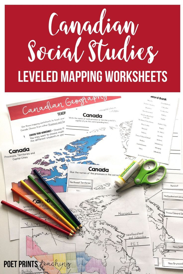 I use this packet of levelled worksheets to teach my grade two and three students the provinces and territories in Canada.  They have fun labeling the capital cities and I like that it's easy to differentiate for the whole class.  It meets most social studies standards and it's hands-on and a lot of fun.