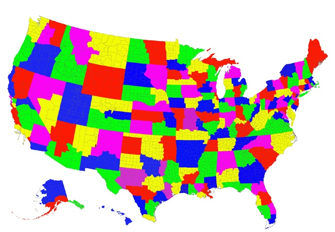 Map Of The Catholic Dioceses In The United States So Cool Also - Catholicism in us map