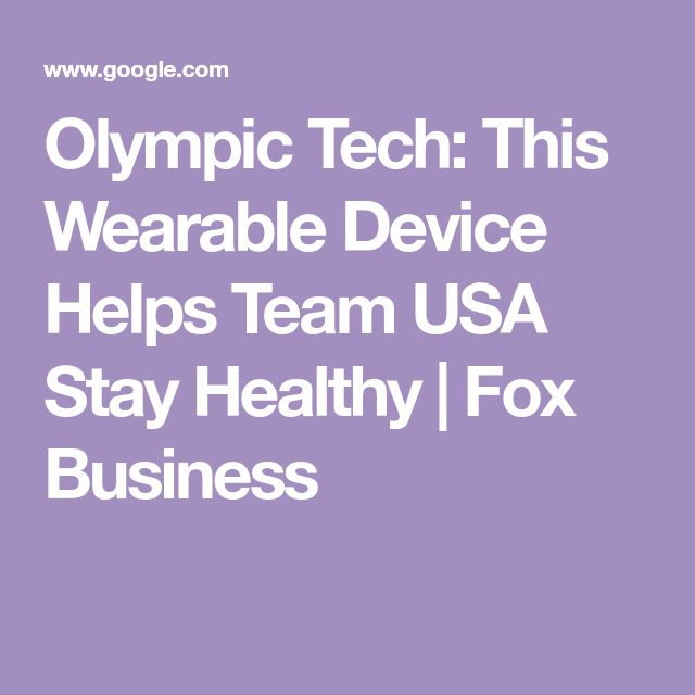 Olympic Tech: This Wearable Device Helps Team USA Stay Healthy   Fox Business