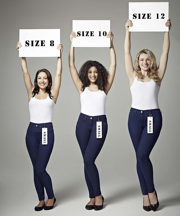 Never have a fat day again! Could ONE pair of wonder jeans fit a size 8, size 10 and size 12 woman?