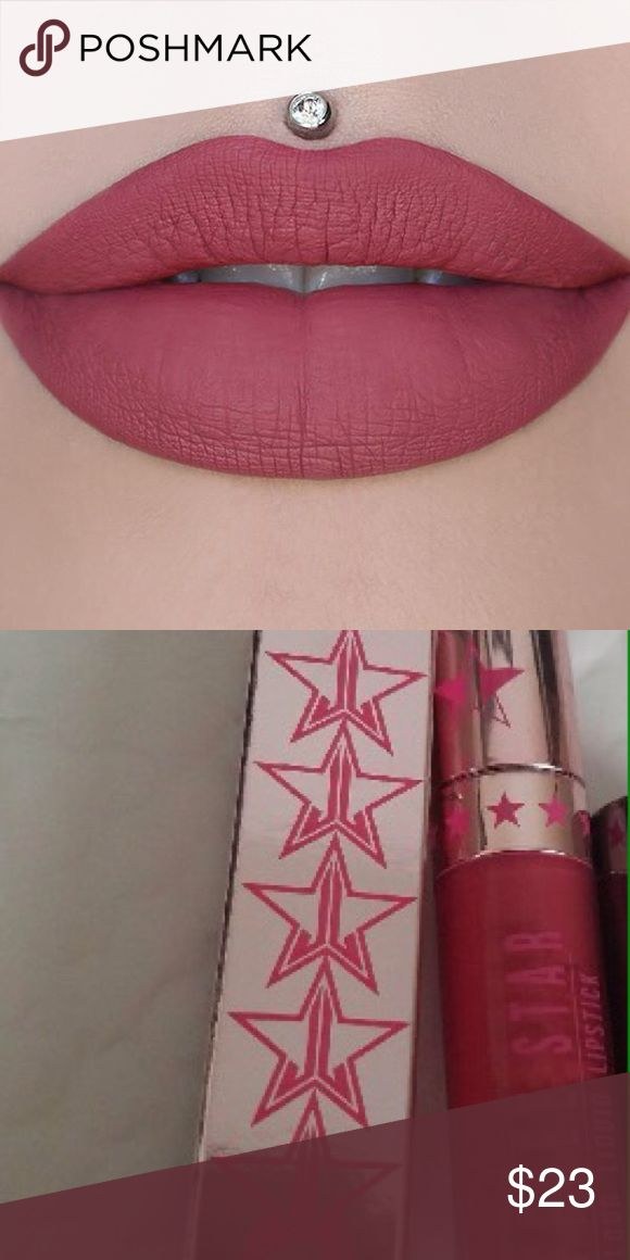 """Jeffree star liquid lipstick calabasas Brand new-- never used! Purchased with my vault and chose not to keep this color-- it's a beautiful color but I have to many similar shades- part of Jeffree stars 2017 summer """"limited edition"""" collection-- Calabasas--- chrome collection-- you better work Jeffree star Makeup Lipstick"""