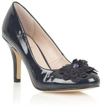 Lotus Navy patent Holly court shoes on shopstyle.co.uk