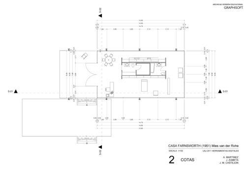 casa farnsworth planos - Buscar con Google
