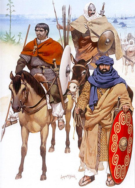 The Moors - Conquest and Consolidation, 8th-10th Century: • Iberian horseman, 8th century  • Berber infantryman, 9th century  • Arab officer, late 8th century