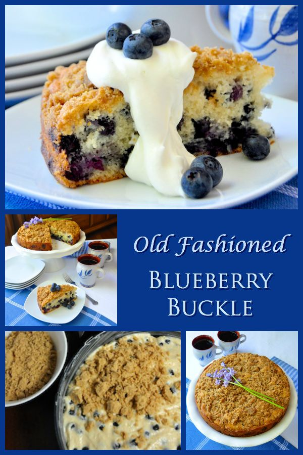 A versatile old fashioned comfort food blueberry buckle recipe that can be used with any fresh seasonal fruit in place of the blueberries.