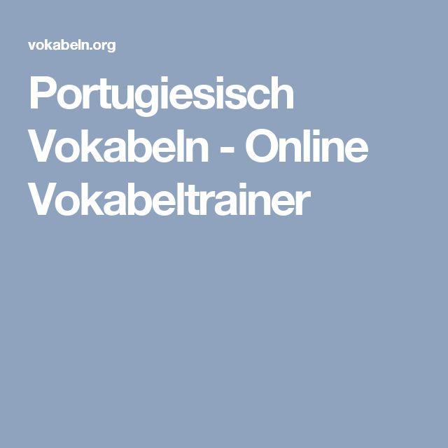Portugiesisch Vokabeln - Online Vokabeltrainer