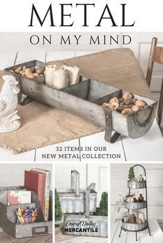 LOVE all of these farmhouse style metal accessories!