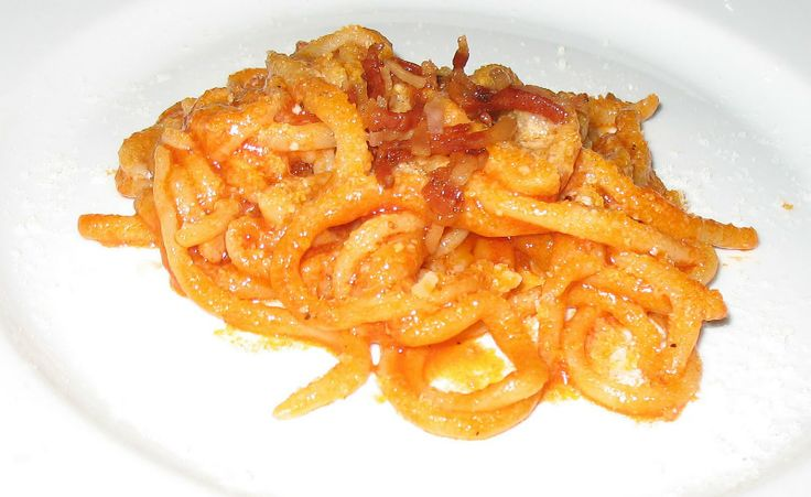 Hand made pasta with pork sauce