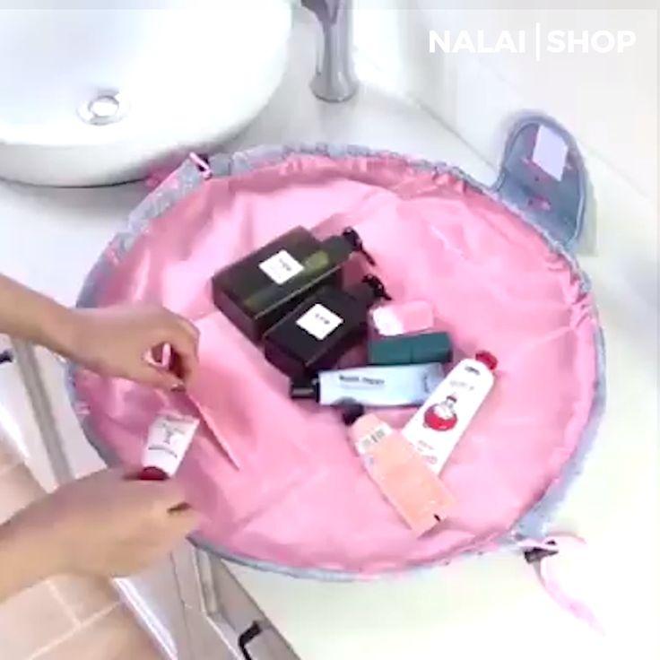 Photo of Drawstring Cosmetic Travel Bag