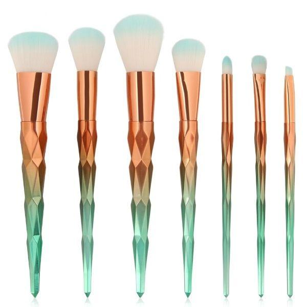7pcs Synthetic Hair Makeup Brush Set Blending Powder Contour Concealer Blush Eyeshadow Eyebrow Make Up Brush Tool