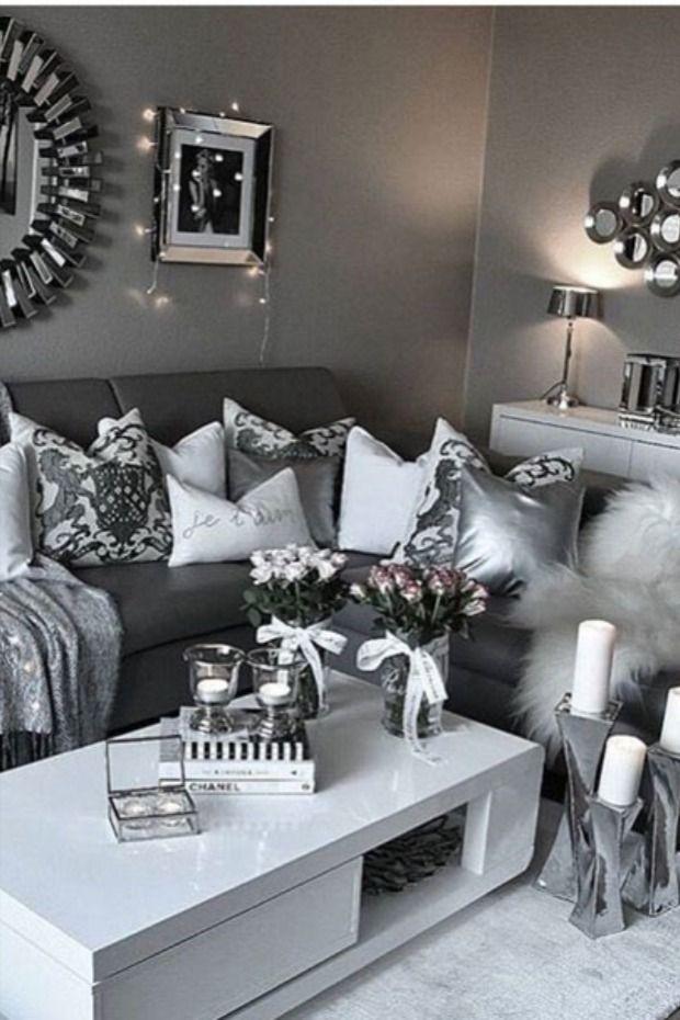 Design Ideas For Living Room Interiordesign Designideas Livingroom Decoratingideas With Images Silver Living Room Living Room Decor Gray Silver Living Room Decor