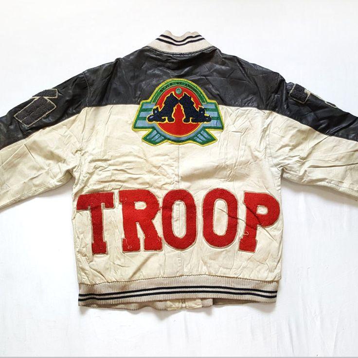 Vintage 90s World of Troop Leather Bomber Patchwork Badges Jacket for sale!    http://www.ebay.com/itm/-/152608418181?  #vintage #90s #WorldOfTroop #WOT #Leather #Bomber #Patchwork #Badges #Jacket #HipHop #Rap #Rare #LLCoolJ #Mens #RapTees