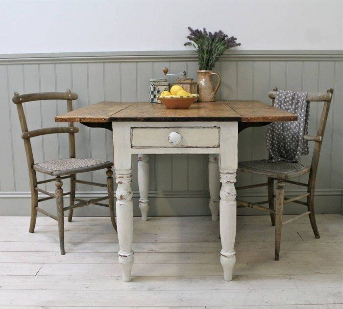 Dining Room With Farmhouse Drop Leaf Table Mobile Home