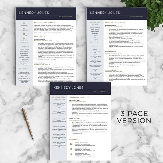 Professional Resume Template for Word & Pages: The Kennedy - Instant Download CV Template - US Letter and A4 sizes included - Mac & PC Compatible using Microsoft Word or Mac Pages __________________ COUPONS: -> 2 Resumes for $25 ($USD) with code GETLANDED -> 3 Resumes for $35